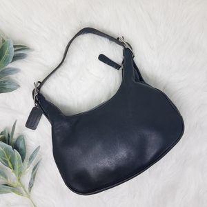 COACH Black Leather Vintage Hobo Shoulder Bag